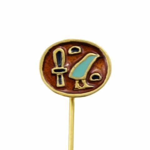 Enamel Egyptian Hieroglyph Stick Pin