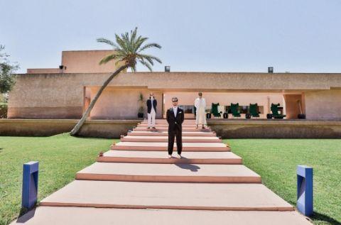 Mariage Marrakech, Maroc  Hotel Dar Sabra ©lasdecoeur - Photo + cinéma www.lasdecoeur.com  The designer duo married in Morocco...complete with multiple fetes–and falconry.