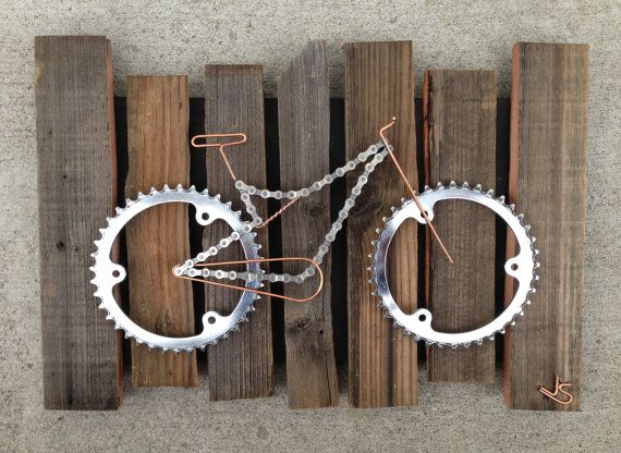 Bike Art  Rustico by TheBikeFund on Etsy, $200.00