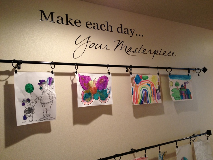 Kids Art Gallery Wall Practice What You Pinterest