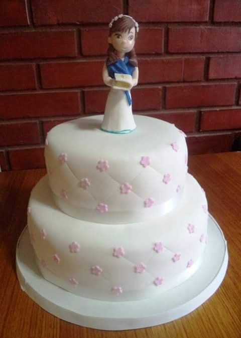 #Bautizo #fondant #cake by Volován Productos  #instacake #puq #Chile #VolovanProductos #Cakes #Cakestagram #SweetCake