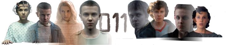 Eleven (Millie Bobby Brown) from Stranger things: Eleven in lab, Eleven using her powers, Eleven in wig, Eleven in upside down through Sensory deprivation tanks, Eleven's tattoo. Season two Eleven- Eleven at campfire, Eleven with curly hair, punk rock Eleven and Eleven at the snow ba