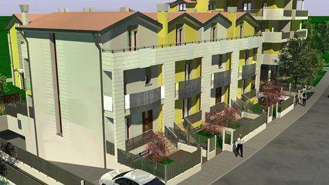 RENDERING DI 9 APPARTAMENTI UNA QUADRI E UNA BIF, Chioggia, 2009 - Denis Rudellin