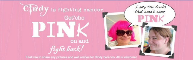Think Pink For Cindy - a Facebook support group for a cancer fighter