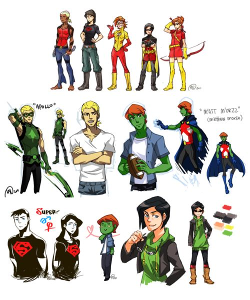 Young Justice gender-flipped. It's adorable.