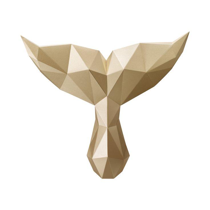 PAPA Play art Polygon art Whale Mystery Gold