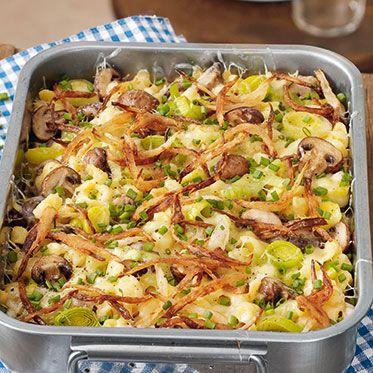 Käsespätzle mit Pilzen Rezept | Küchengötter