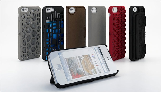A 3-D printed case for Apple iPhone 5