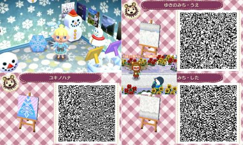 Snowy paths acnl pinterest posts and paths for Animal crossing new leaf arredamento