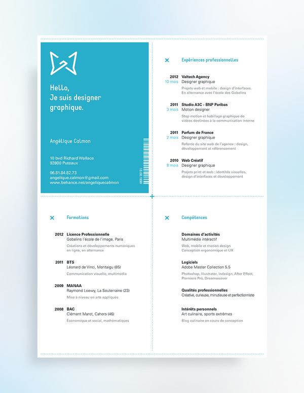 112 best Resumes images on Pinterest Page layout, Resume and - motion graphics resume