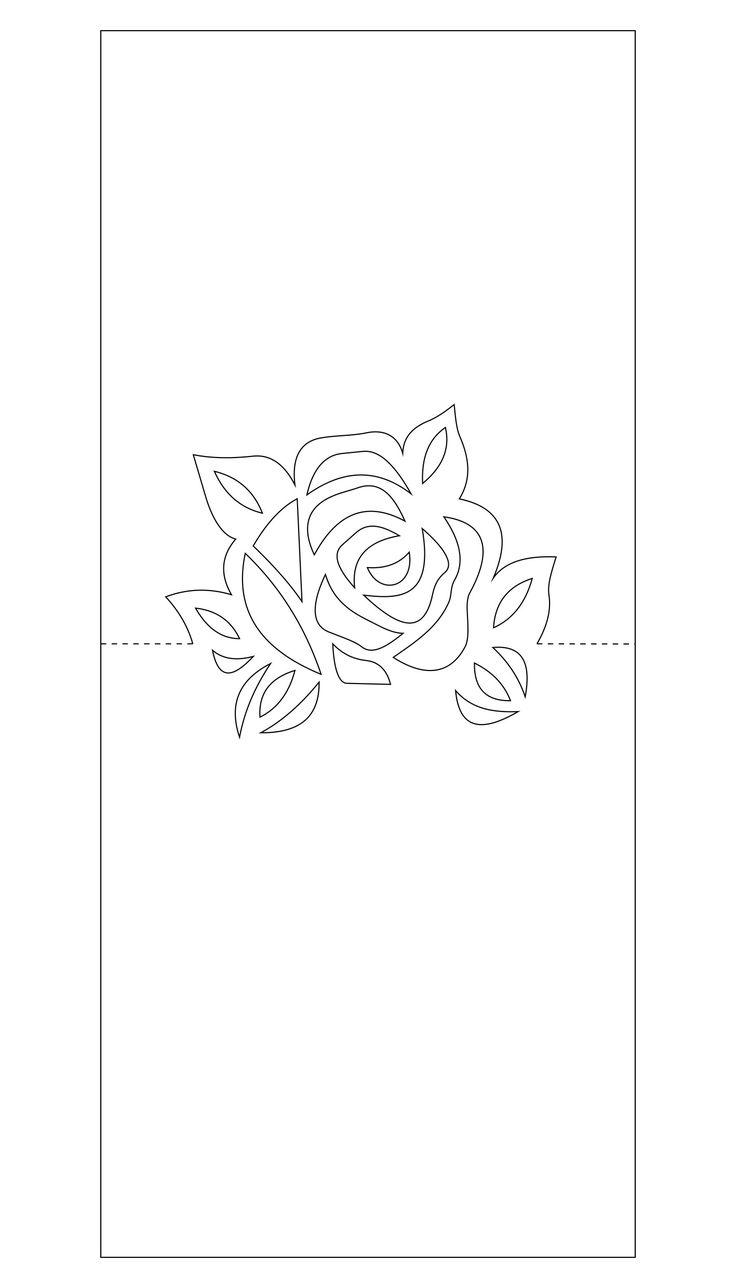 Открытка вытынанка с цветами