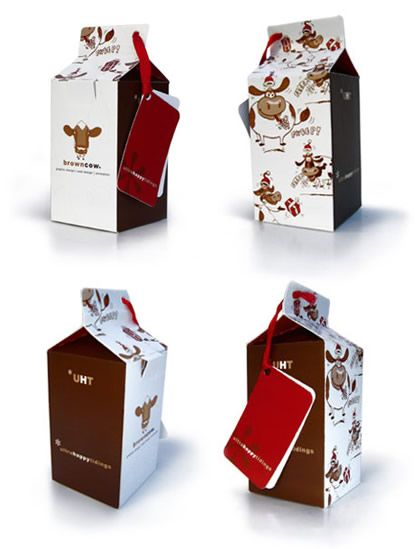 Just too cute milk #packaging #design by browncow PD