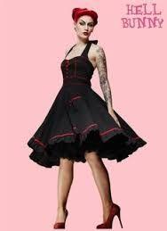 Kuvahaun tulos haulle Hell Bunny Vanity Polka Dot 50s Dress