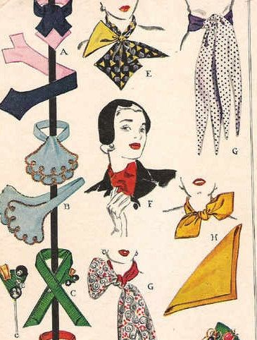 Late 1940s Sewing Pattern  Scarf Set CRAVATS by butterflyvalley, £20.00