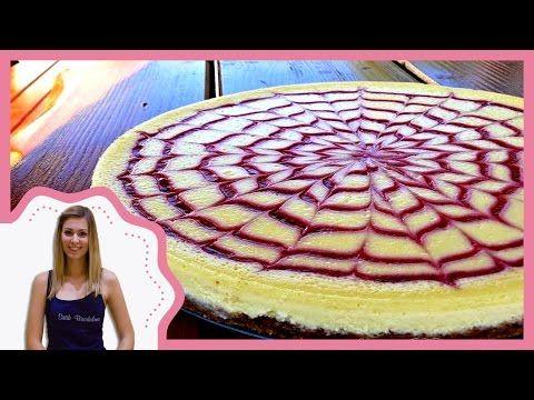 Málnás sajttorta készítése, díszítése recepttel (decoration of raspberry cheesecake) - YouTube