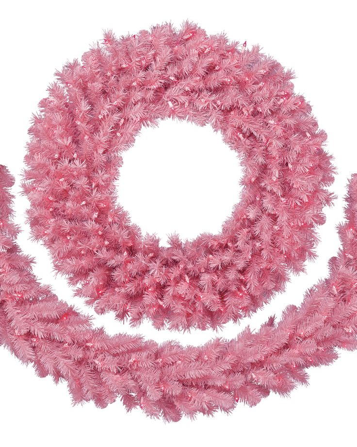 Pretty in Pink Christmas Wreath & Garland | Treetopia