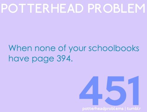 Its because textbooks shouldn't relate to hp , they'd make HP bad.