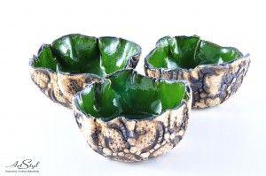 Kolorowe miseczki - zielona ------  Colorful bowl - green