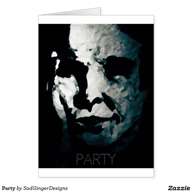 Serious About Partying Greeting Card #darkart #art #drawing #illustration #funny #gingerart #mixedmedia #hipster #sadgingerdesigns #greetingsfromasadginger #greetingcards #specialoccasions #party