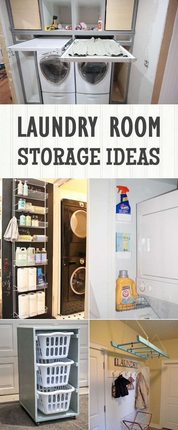 12 Clever Laundry Room Storage Ideas | Laundry rooms ...