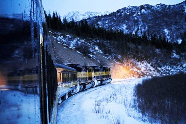 The Aurora Express Hotel Train in Fairbanks provides a unique and truly magnificent opportunity to see the fabulous beauty of Alaska from the windows of a luxury hotel train.