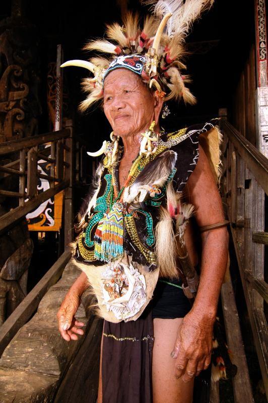 Kenyah Warrior Profile, Dayak Kenyah-West Kalimantan