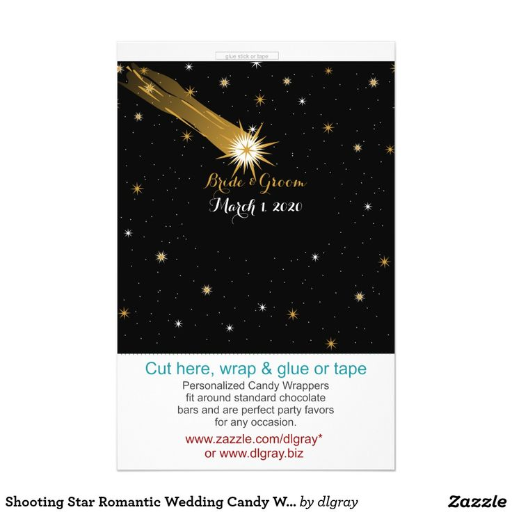zazzle wedding invitations promo code%0A Shooting Star Romantic Wedding Candy Wrappers Flyer