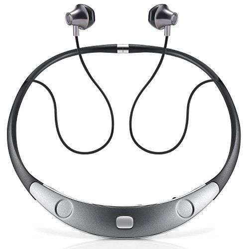 Bluetooth Headset Call Vibrate Alert HiFi Wireless Neckband Headphones Stereo Noise Reduction Earbuds w/ Mic by Audioxa  https://topcellulardeals.com/product/bluetooth-headset-call-vibrate-alert-hifi-wireless-neckband-headphones-stereo-noise-reduction-earbuds-w-mic-by-audioxa/  Around-the-Neck Wearing Style With Body-contoured Fit. Made of ultra-light shape-memory alloy, great for easy carrying and all day comfort. Ensures a 100% comfortable fit especially when you are runnin