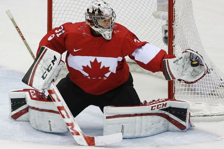 DAY 17:  Carey Price #31 of Canada competes during the Ice Hockey Men's Gold Medal Game - Canada vs. Sweden
