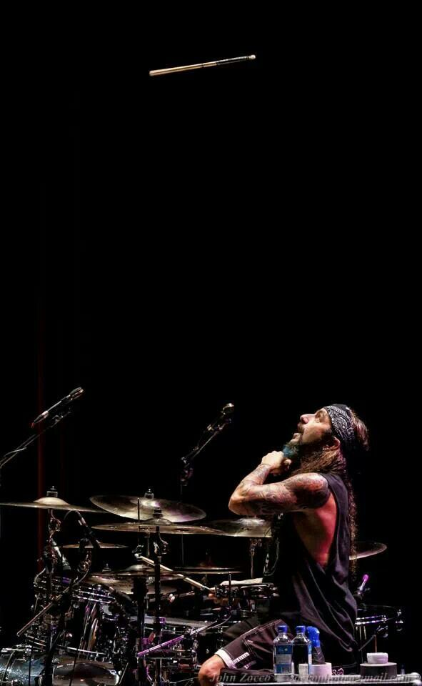 Mike Portnoy, the drummer for Dream Theater, Liquid Tension Experiment and recently the drummer for Avenged Sevenfold for their Nightmare Tour. He is a very technical drummer and my second favorite drummer of all time