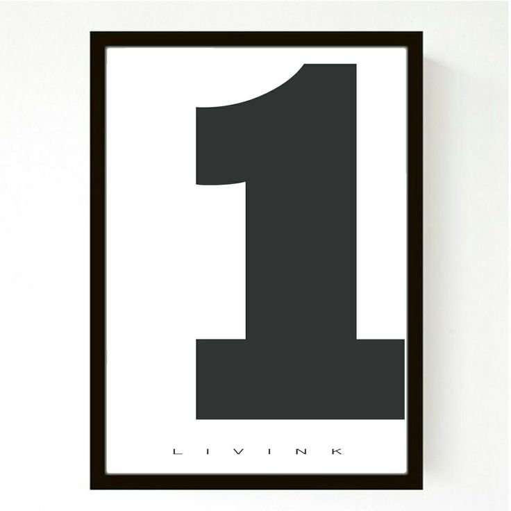 50 X 70 CM - FORUDBESTILLING - NUMBERS via LIVINK. Click on the image to see more!