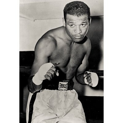 Sugar Ray Robinson in Gym 1932 Archival Photo Sports Poster – 13×19