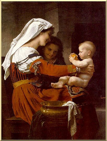 """""""Madonna and Child with St. John the Baptist""""  William Adolphe Bouguereau"""