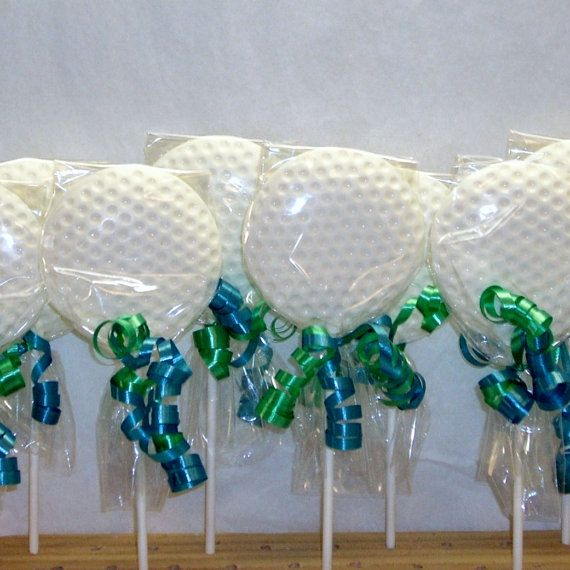 Golf Ball Lollipops by candycottage on Etsy, $16.00