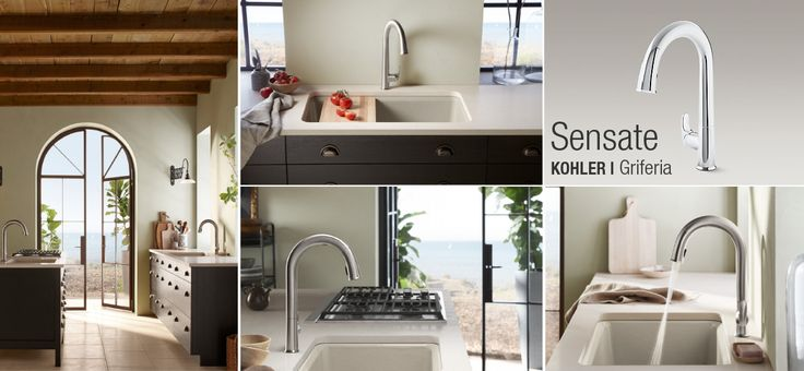 Dale a tu cocina un concepto estético actual con la grifería minimalista monocontrol #Kohler http://on.fb.me/1f6ccVA