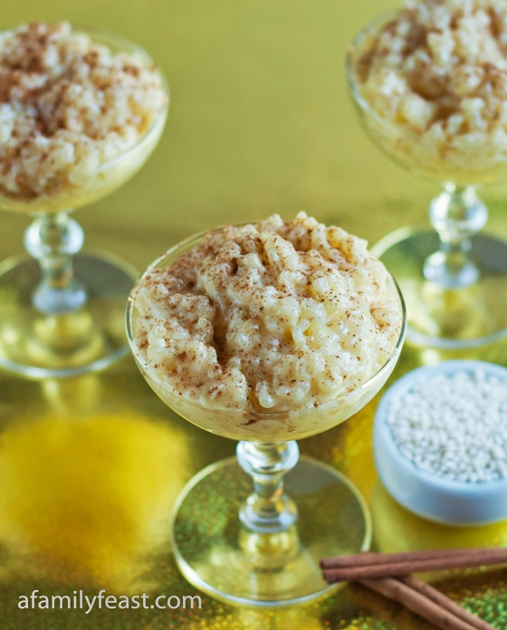 Portuguese Rice Pudding - a creamy, comforting rice pudding with vanilla and cinnamon.  This is an old family recipe that's been passed along to us!