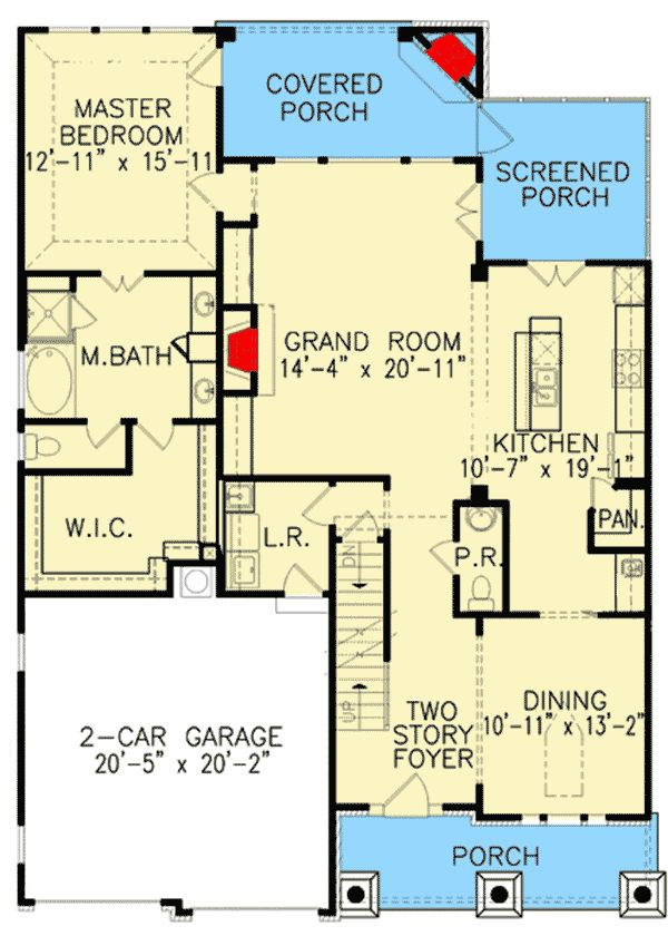 Plan 15805GE: Expandable House Plan with 2-Story Foyer ...