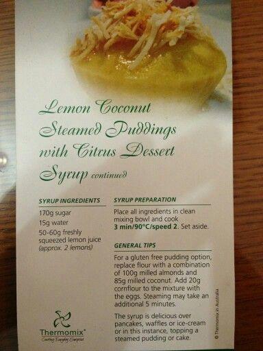 Lemon  coconut steamed  pudding