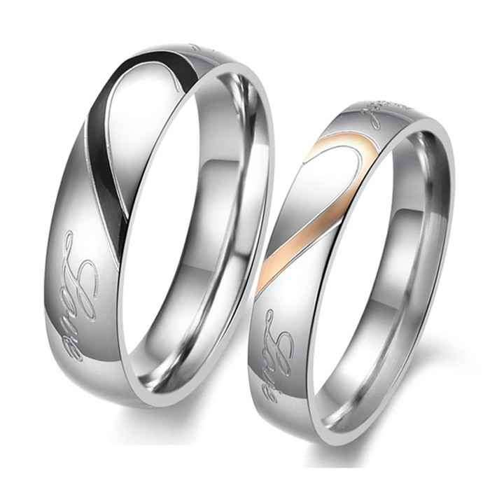 Creative Textile Industry - jewelry - ring - love - retro simplicity - Titanium Steel couple rings - the ring