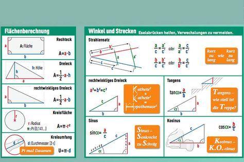 Geometrie: Flächen / Winkel und Strecken