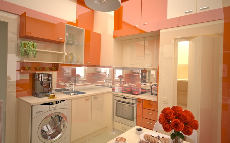 """Kitchen 'Orange appetite """"is inspired by the color of creativity, experimental, of appetizing - orange."""
