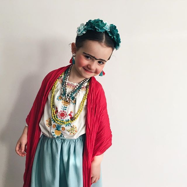 Frida Kahlo Costume for little girls                                                                                                                                                                                 More