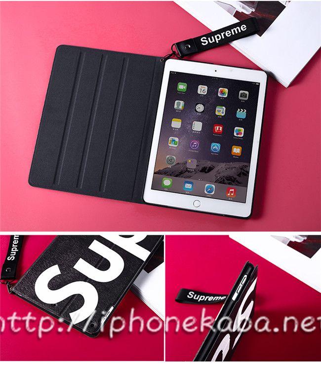 シュプリーム ipad mini2 3 4ケース ファッション 韓国 ipadケース ケース 手帳ケース