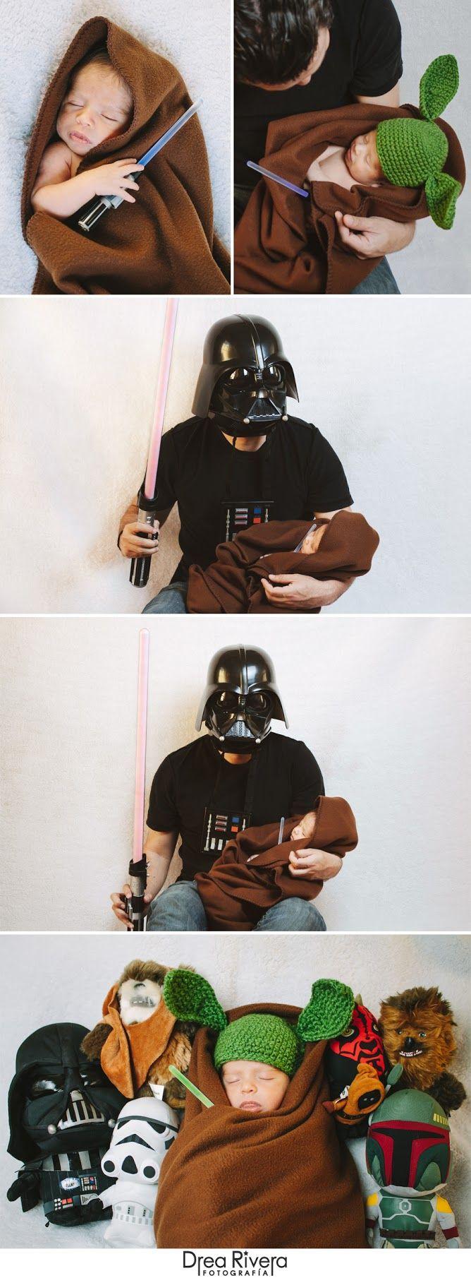 sesión de fotos de bebé recién nacido / baby newborn photoshoot Star Wars by Drea Rivera Fotografía
