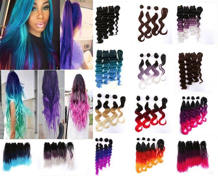 #1 Best Selling eCowboy Vicssa Fashion Synthetic Hair 4 Bundles and 1 Closure Ha #eCowboy