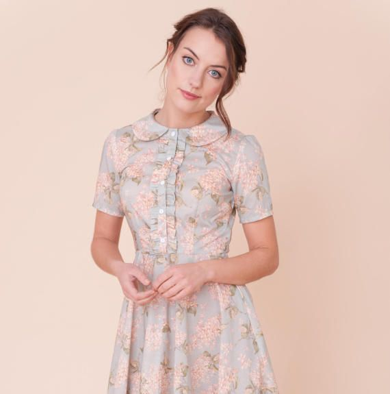 Ruffled floral dress by PLUMANDPIGEON on Etsy