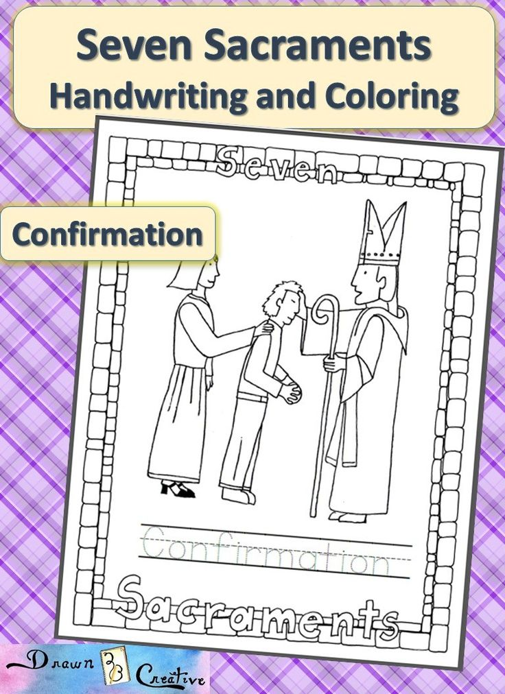 sacraments of the catholic church coloring pages - photo #16
