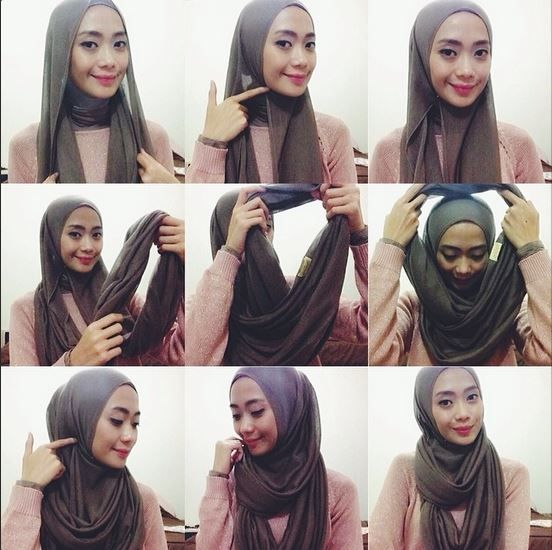 how to wear infinity scarf as hijab - Google Search