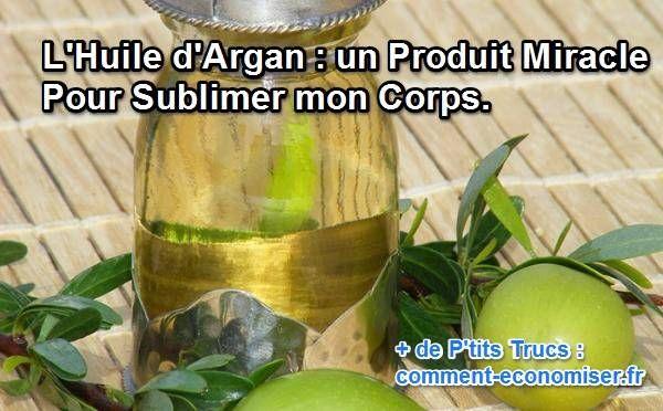 L'huile d'argan est un formidable anti-oxydant. Quelques gouttes sur un tissu suffisent pour nourrir et embellir ma peau dès 10 jours d'application quotidienne.  Découvrez l'astuce ici : http://www.comment-economiser.fr/sublimer-corps-huile-argan.html?utm_content=bufferf4cbf&utm_medium=social&utm_source=pinterest.com&utm_campaign=buffer