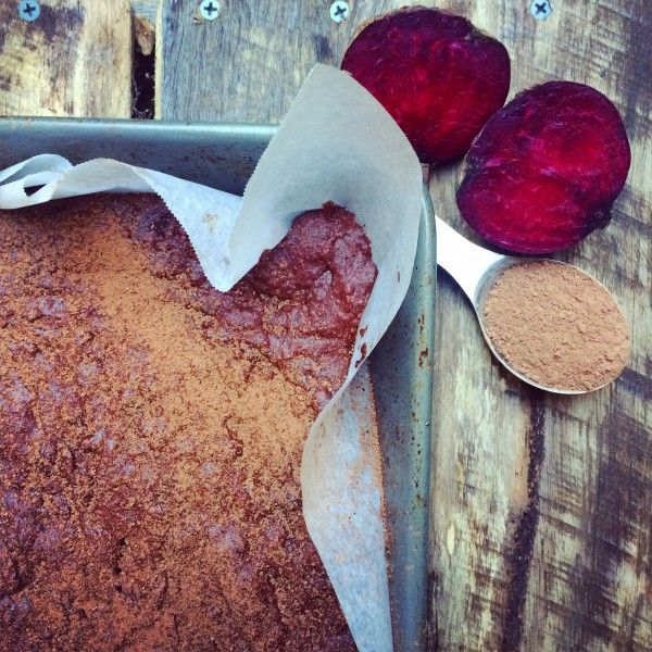 cacao and beetroot brownie